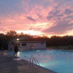 Crabapple Pool Sunset